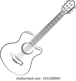 musical instrument black and white guitar