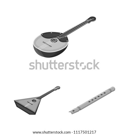 musical instrument monochrome icons set collection stock vector