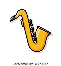 musical instrument Saxophone doodle