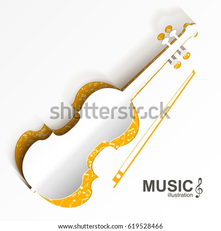 Musical Instrument Template White Cut Out Stock Vector Royalty Free