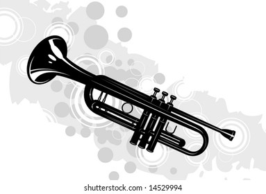musical instrument the trumpet with decorative elements