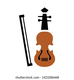 Musical instrument - Violin icon. flat illustration of Musical instrument - Violin vector icon for web