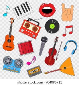Drum Fist Iron On Patch Badge Sticker Kids Rock Music Instrument Drums