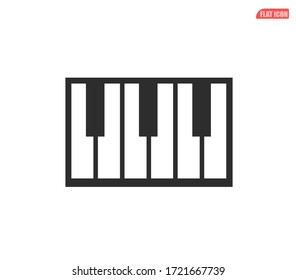 musical instruments flat icon, musical keyboard