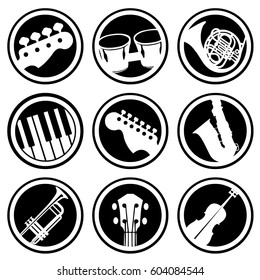 Musical instruments icons.