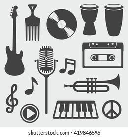 Musical Instruments / Vector Silhouette