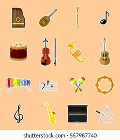 Musical instruments - vectors set