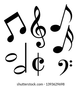 Musical music vector symbol outline