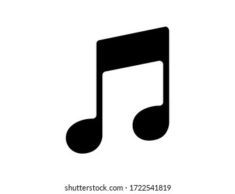 Musical notation icon in black color. Illustration of music symbol. Classic melody sign in flat design. Chords icon silhouette. Key note for piano and guitar. Vector EPS 10