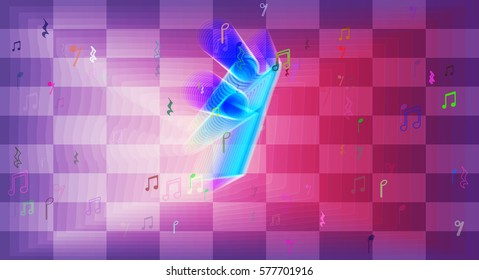 musical note background design