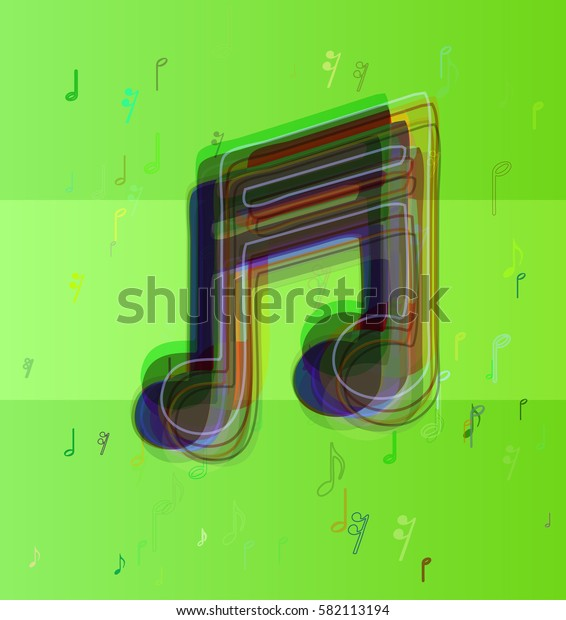 musical note elements pattern