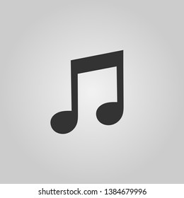 Musical note icon. Flat style for mobile concept and web design. Vector illustration