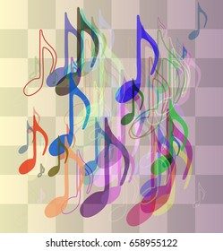 musical note texture background