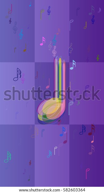 musical note texture design