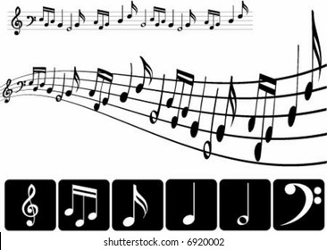 Musical notes design in two ways