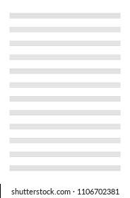 Musical notes sheet. Vector Illustration.