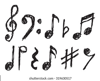 Music Notes Sketch Images Stock Photos Vectors Shutterstock