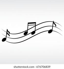 musical notes vector icon