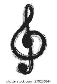 musical notes,treble clef,  design element