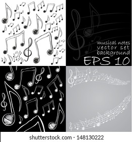 musical page. Notes background set