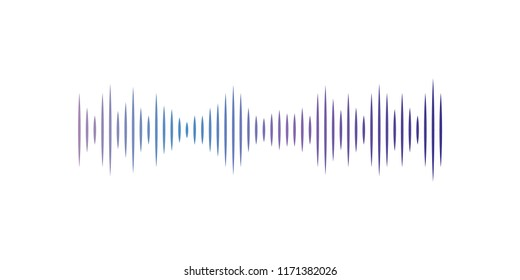 Musical pulse, audio digital equalizer technology vector Illustration on a white background