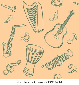 Musical Seamless Background