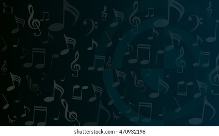 Jazz Saxophone Drawing On Blackboard Music Stock Illustration