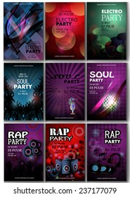 MusicFlyer Template - Vector Illustration, Graphic Design, Editable For Your Design