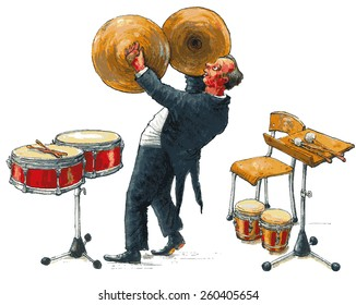 Musician with cymbals
