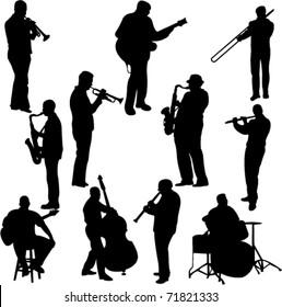 musician silhouette images stock photos vectors shutterstock