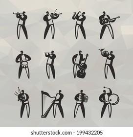 Musicians. Vector format