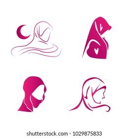 musimah symbol has mean female, set logo