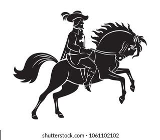 musketeer on horseback