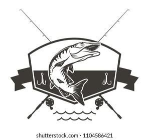 Muskie Fishing Logo