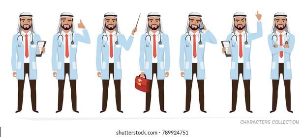 Muslim Arabic doctor men character