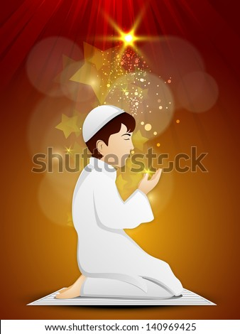 f54bf7a6f96f Muslim Boy Islamic Traditional Dress Praying Stock Vector (Royalty ...