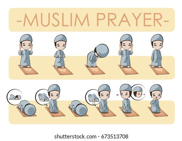 Muslim Boys Teach The Prayer Process