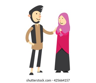 Muslim Couple Images Stock Photos Vectors Shutterstock