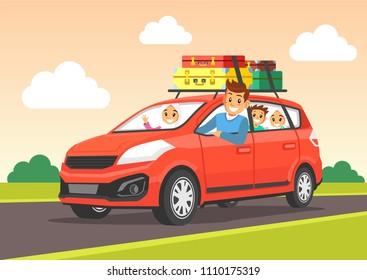 Muslim Family Traveling.
