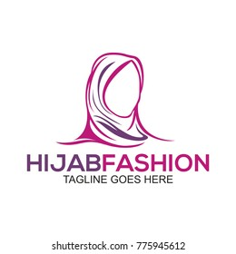 Muslim fashion logo template and icon