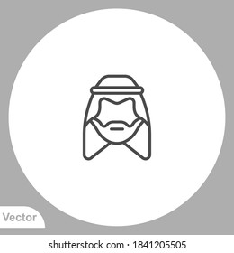 Muslim man icon sign vector,Symbol, logo illustration for web and mobile