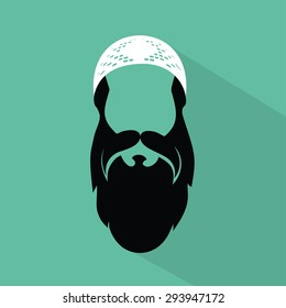 Muslim man - vector illustration
