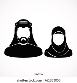 Muslim man and woman.