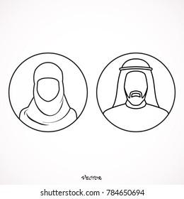 Muslim man and woman.