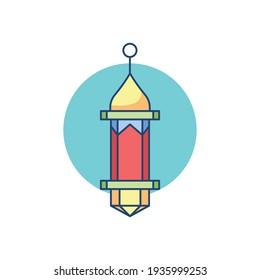 Muslim Ramadan Lantern Vector Illustration. Lantern Celebration Muslim.