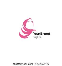 Muslim Scarf logo template