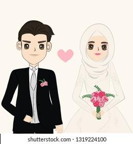 Wedding Muslim Cartoon Images Stock Photos Vectors Shutterstock
