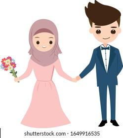 Muslim Wedding Cartoon Images Stock Photos Vectors Shutterstock