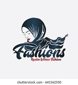 Muslim Women Fashions Logo Vector