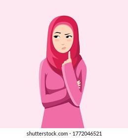 Muslim women are thinking something